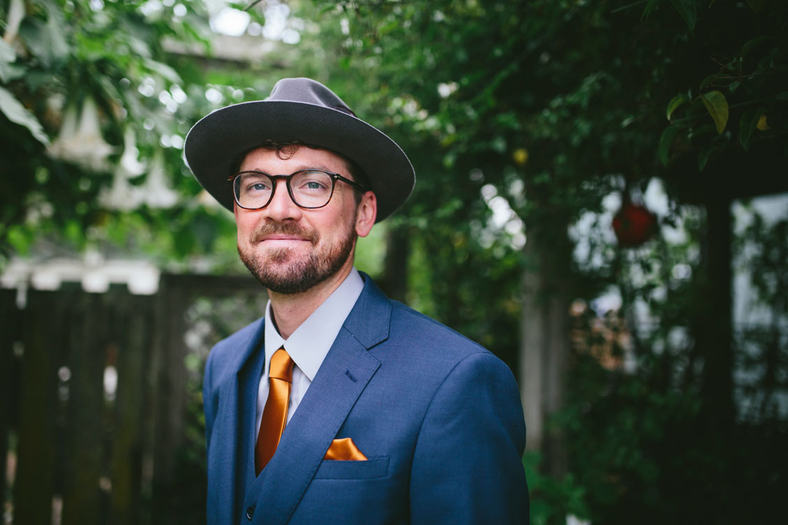 Portrait of groom for Stinson Beach Wedding by Becca Henry Photography