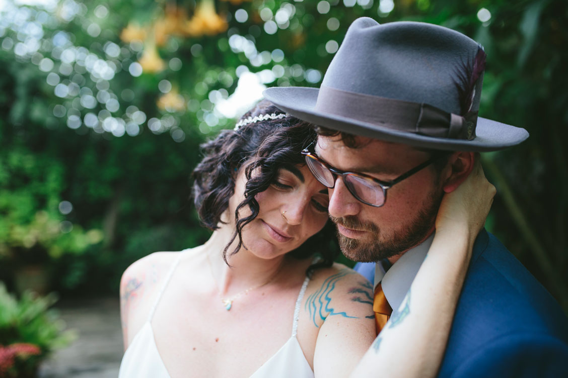 Sweet moment at Stinson Beach wedding by Becca Henry Photography