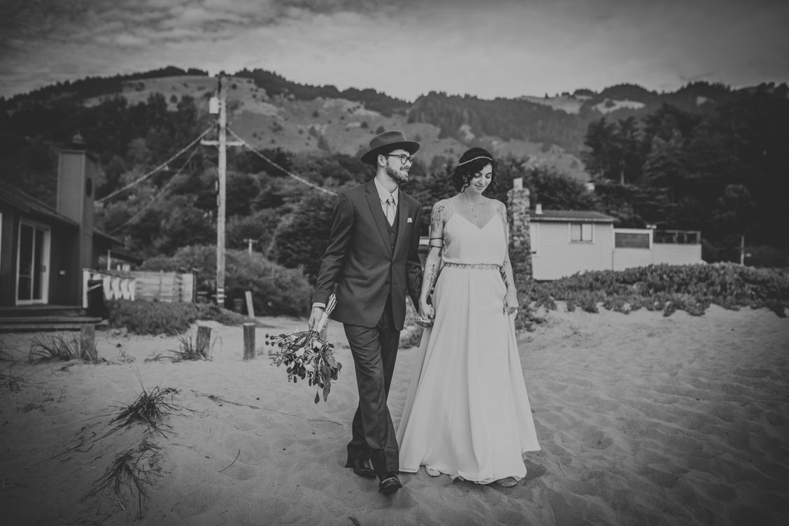 Before the ceremony at beach wedding by Becca Henry Photography
