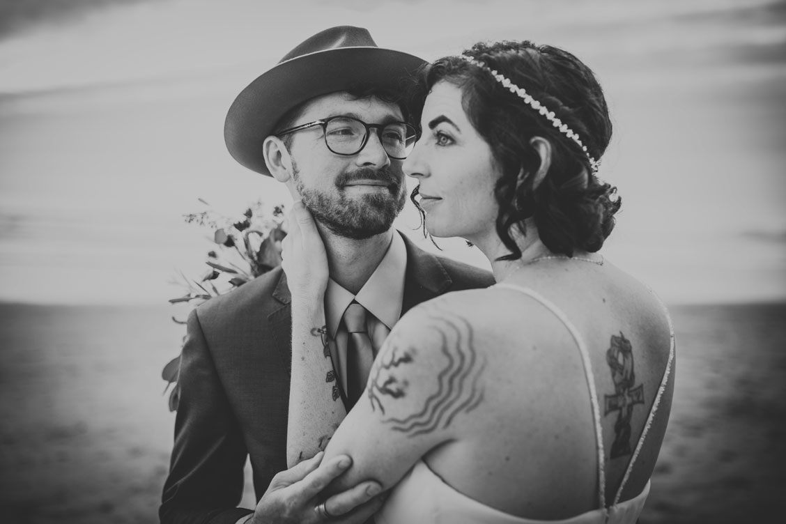 Portrait of bride and groom by Becca Henry Photography