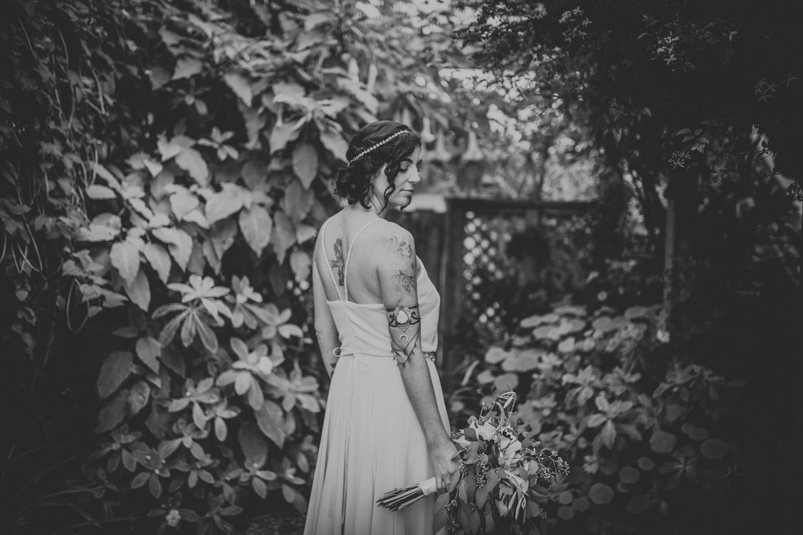 Portrait of bride for DIY beach wedding by Becca Henry Photography