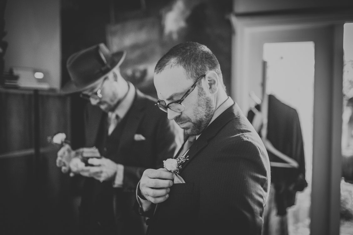 Groom getting ready by Becca Henry Photography