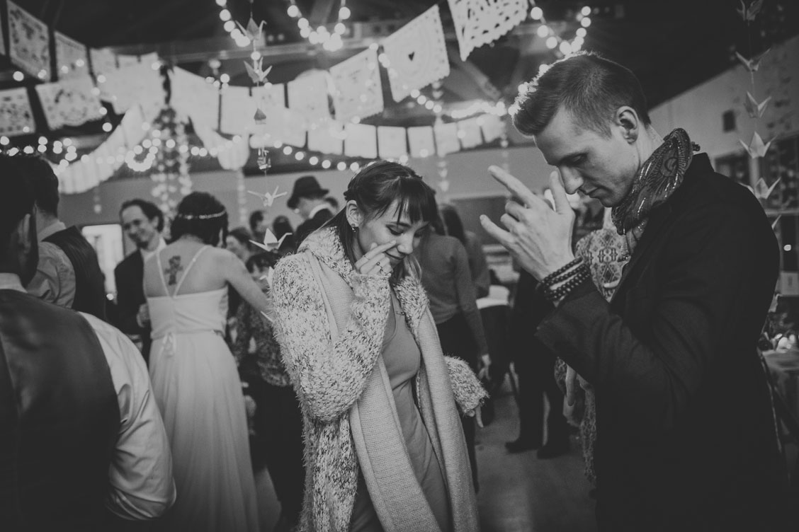 BW Photo Reception dancing at Stinson Beach Wedding by Becca Henry Photography