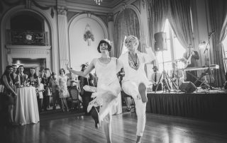 Wedding reception dancing at the Oakland Bellevue Hotel by Becca Henry Photography