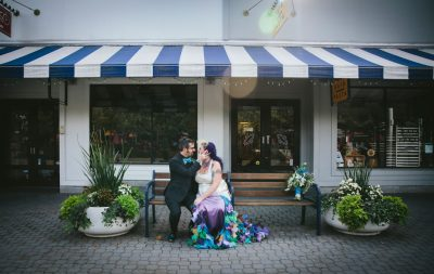 Jack London Square wedding- couple embracing by Becca Henry Photography