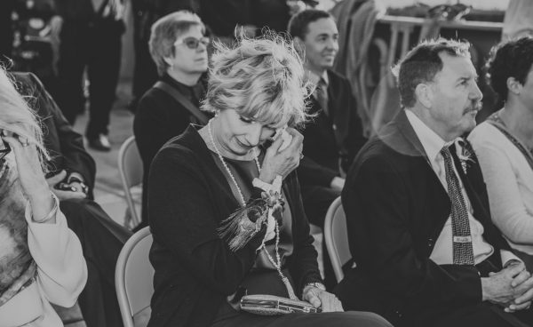 Mom crying during the wedding ceremony by Becca Henry Photography