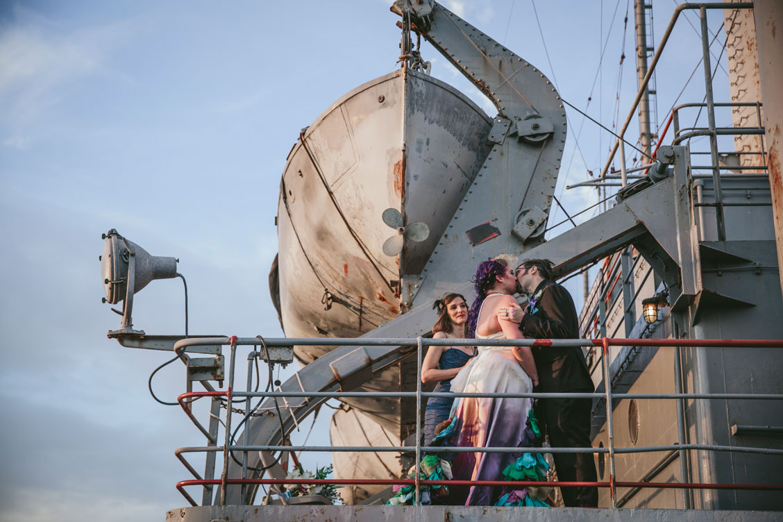 SS Red Oak Victory wedding ceremony by Becca Henry Photography