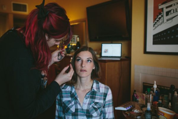 Bridal party getting ready at the Waterfront, a Joie de Vivre by Becca Henry Photography.