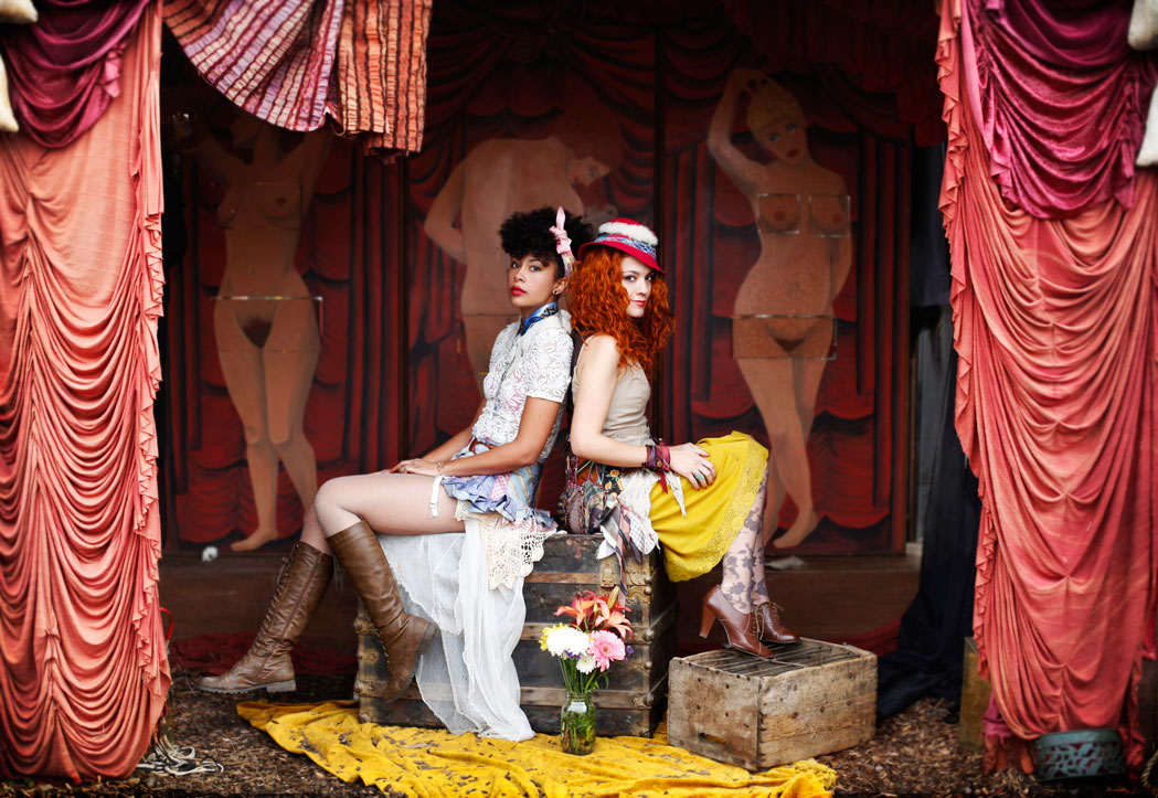 Recycled circus - vintage fashion shoot for The Window Lady at Peralta Junction in Oakland, CA by Becca Henry Photography