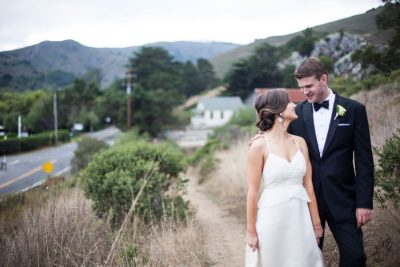 Wedding at Pelican Inn- walking along path by Becca Henry Photography