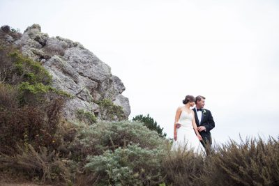 Wedding at Pelican Inn- on cliff by Becca Henry Photography