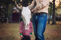 Editorial Family Photography - boy with bullhorns by Becca Henry Photography