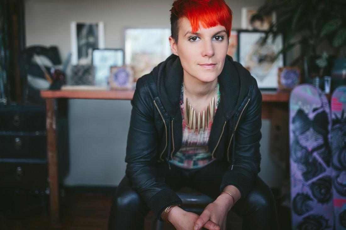 Visual branding- Oakland artist portrait - Angela Scrivani by Becca Henry Photography