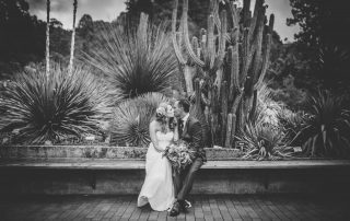 SF Botanical Garden Wedding-sweet moment after the ceremony by Becca Henry Photography