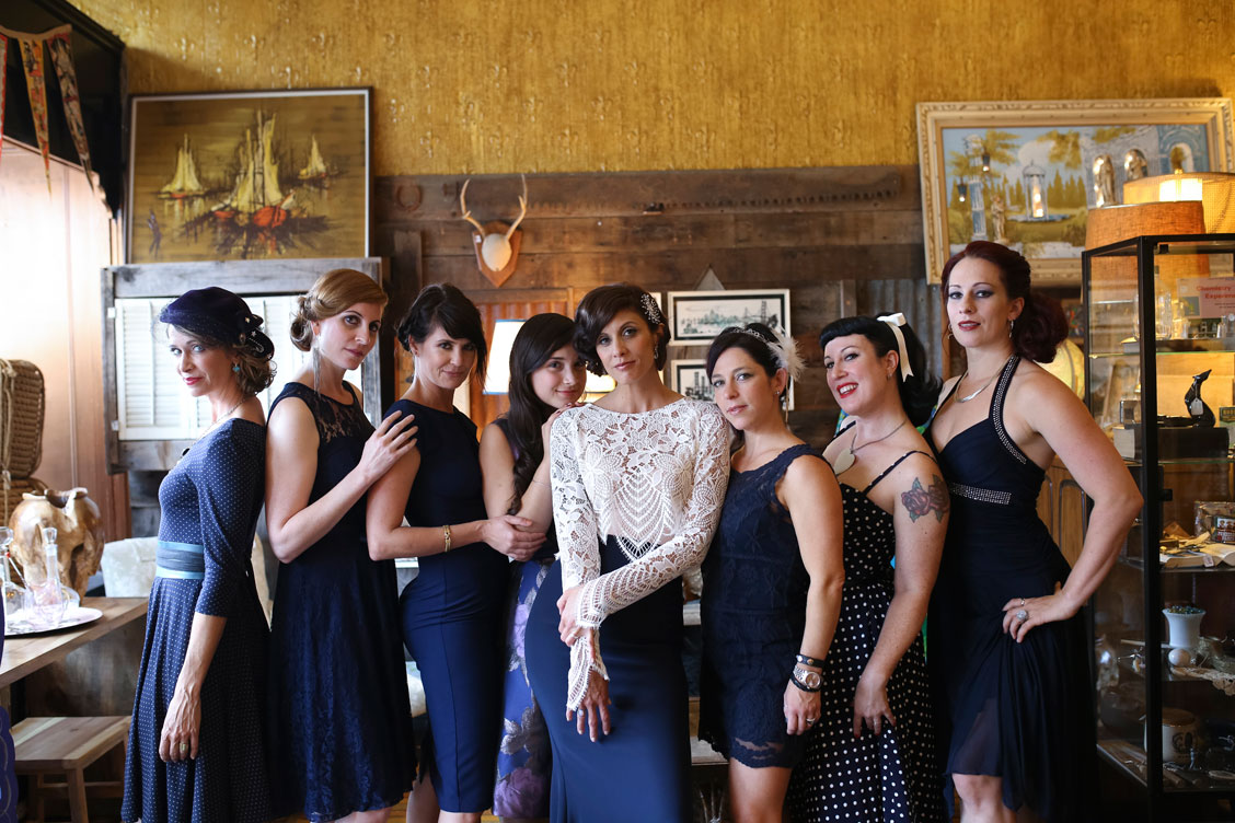 Editorial wedding shoot of bridal party in the Mission by Becca Henry Photography