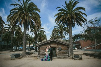 Stinson Beach wedding- couple embracing by Becca Henry Photography