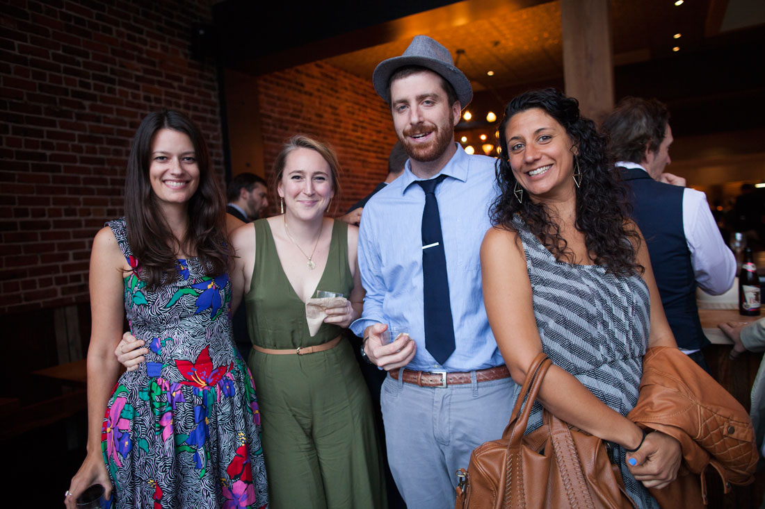 Guests at wedding reception in El Camino, an Oakland venue by Becca Henry Photography
