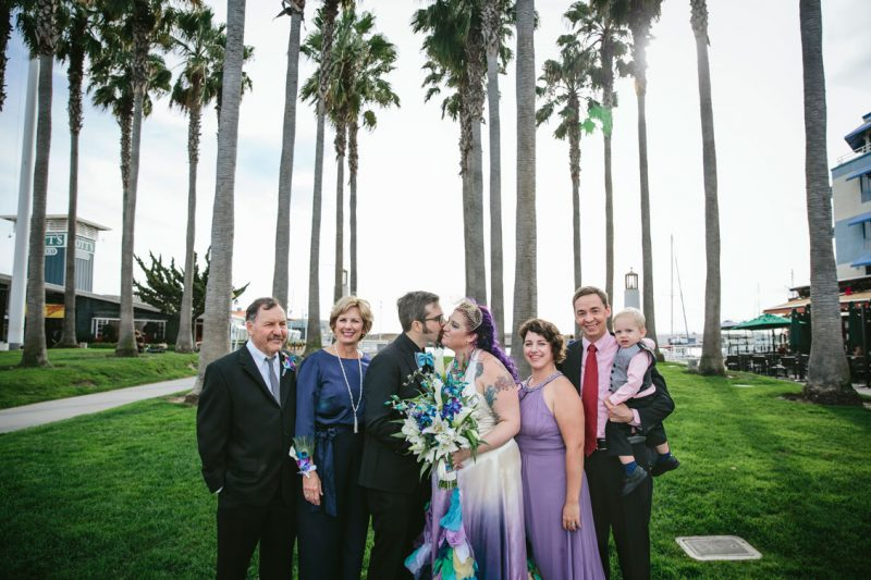 Family wedding Portrait in Jack London Square by Becca Henry Photography