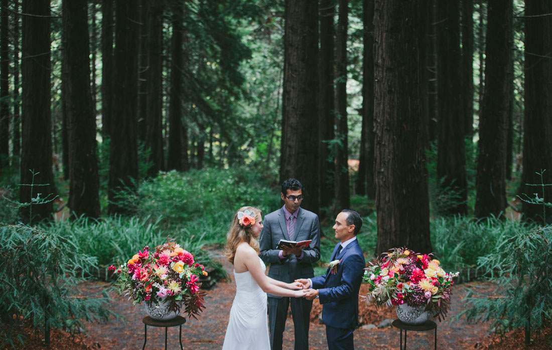 Beautiful Redwood Grove Wedding ceremony in Berkeley by Becca Henry Photography