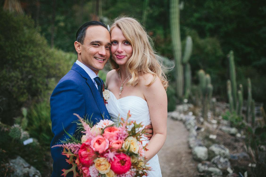 Wedding couple portrait at Berkeley Botanical Garden by Becca Henry Photography