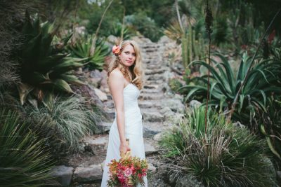 Berkeley Botanical Garden- portrait of bride- Becca Henry Photography