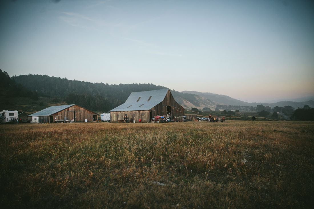 Mendocino wedding - barn in a field by Becca Henry Photography