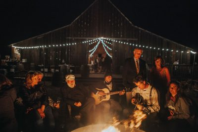 Mendocino wedding - campfire songs by Becca Henry Photography