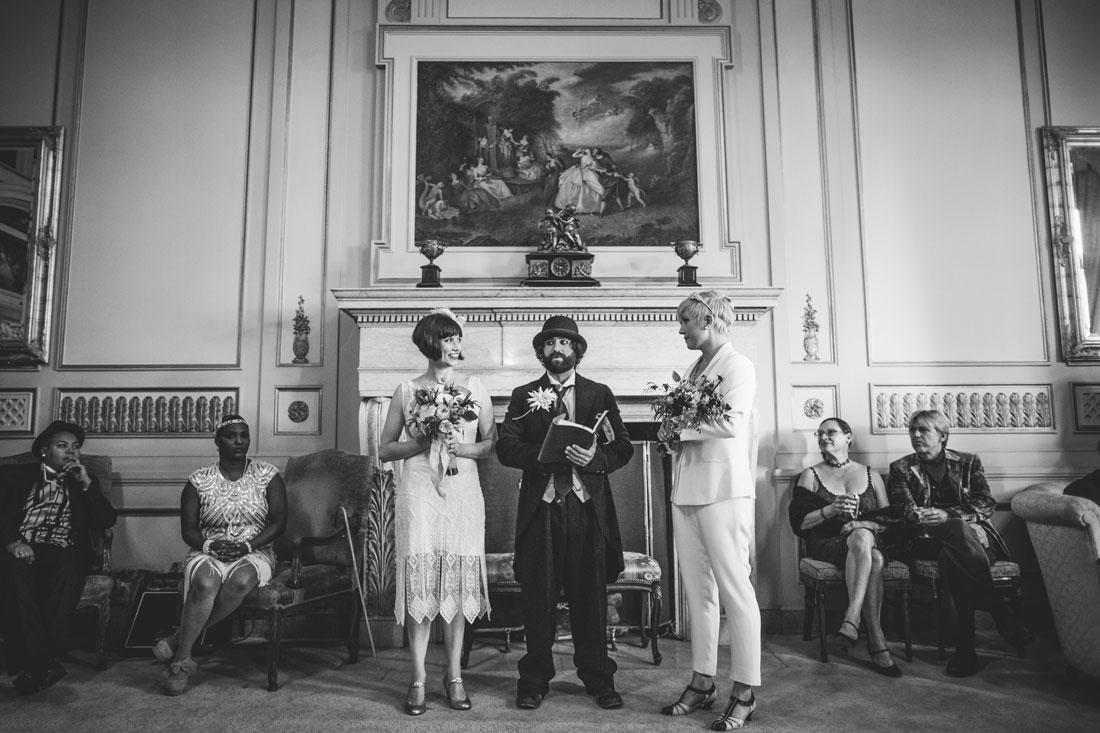 Oakland Bellevue Hotel Wedding Ceremony- by Becca Henry Photography