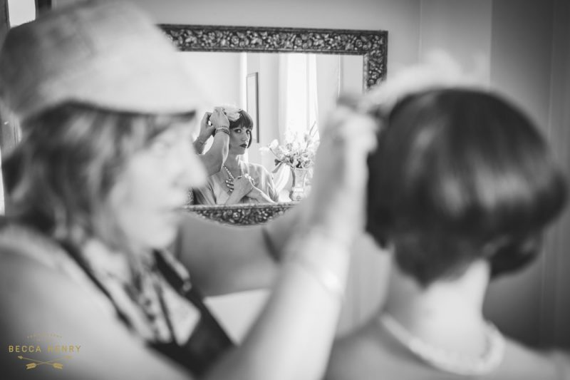 Oakland Bellevue Hotel 1920's Wedding Ceremony- Getting ready by Becca Henry