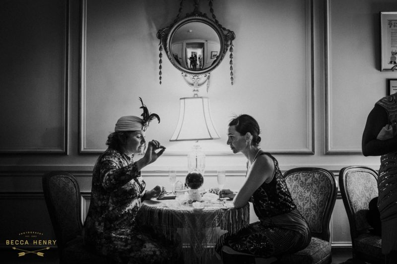 Oakland Bellevue Hotel 1920's Wedding Ceremony- Fortune Teller reads cards by Becca Henry Photography