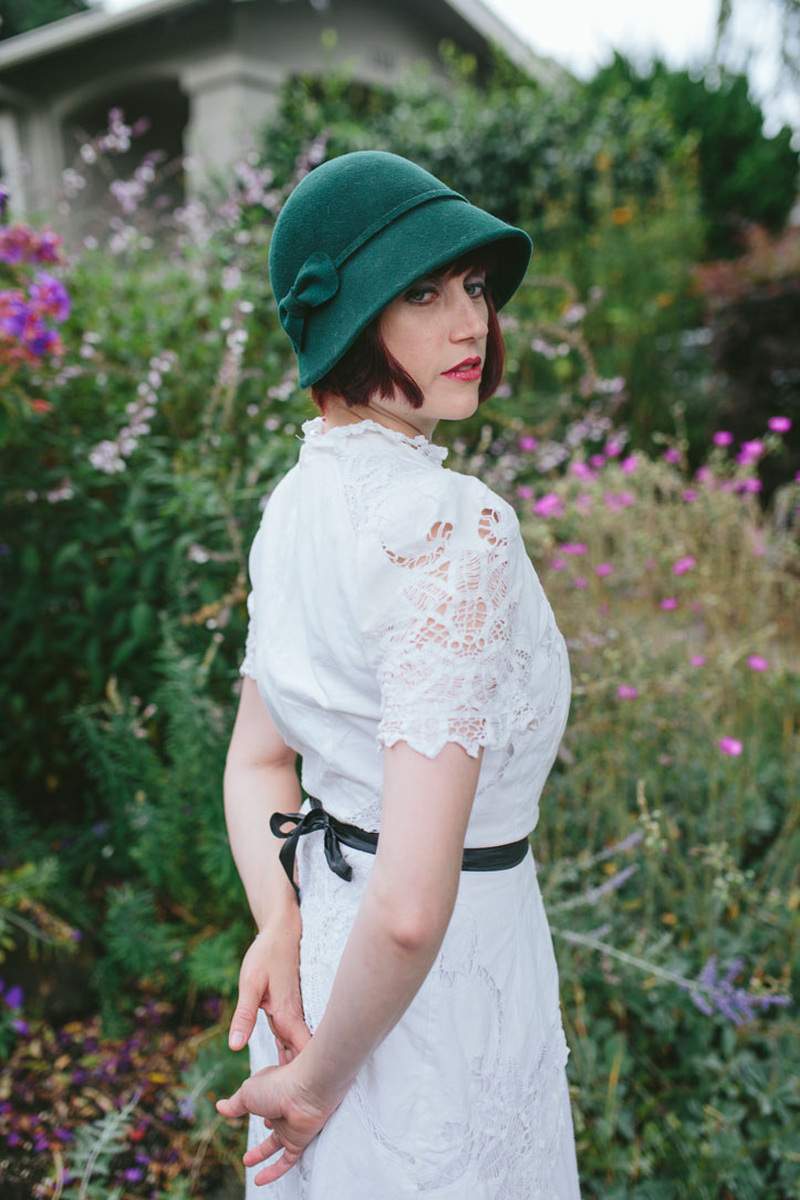 Day after wedding session in Berkeley- dressed as ingenue by Becca Henry Photography