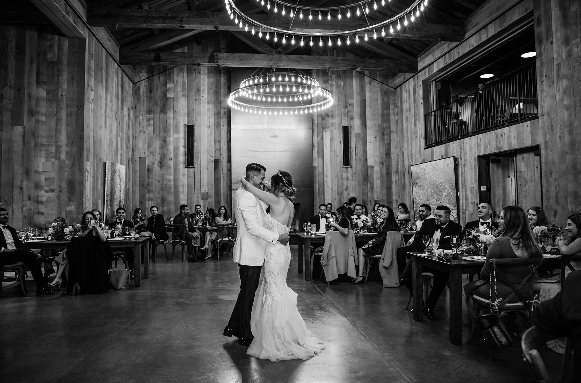 Bride and groom first dance at Brasswood in Calistoga