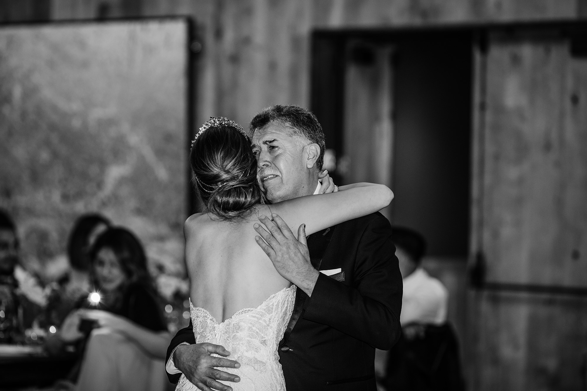 Father daughter dance at Brasswood in Calistoga