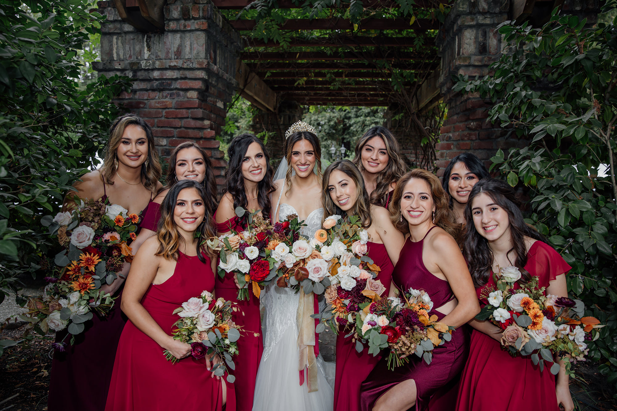 Wedding party at Harvest Inn in St Helena.