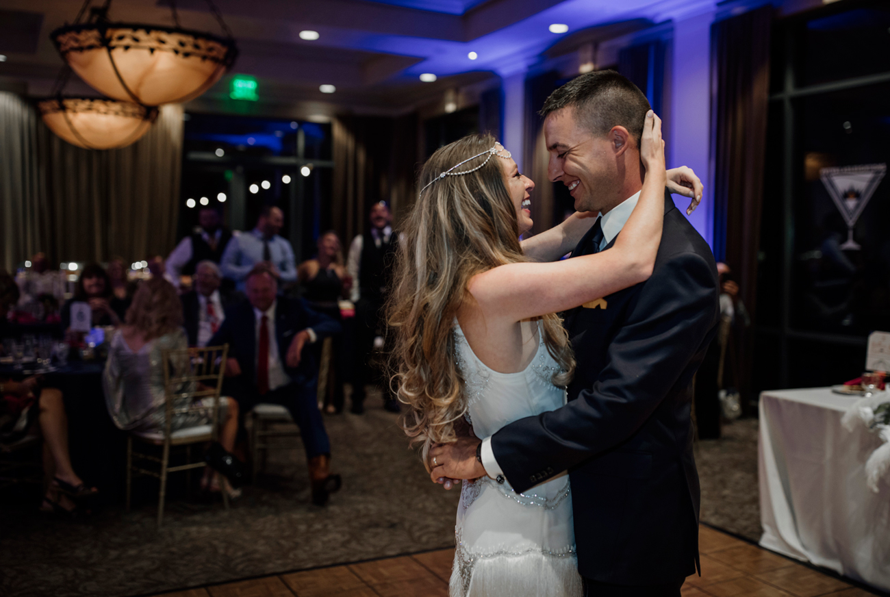Las Vegas Wedding and Red Rocks Wedding . Siena Golf Club Wedding. Becca Henry Photography . Bride and groom's first dance