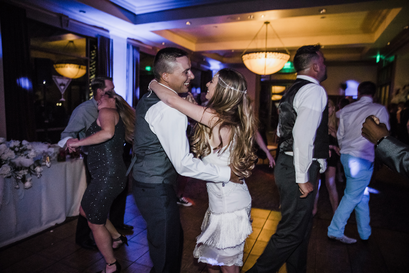 Las Vegas Wedding and Red Rocks Wedding . Siena Golf Club Wedding. Becca Henry Photography . Bride and groom dancing the night away.