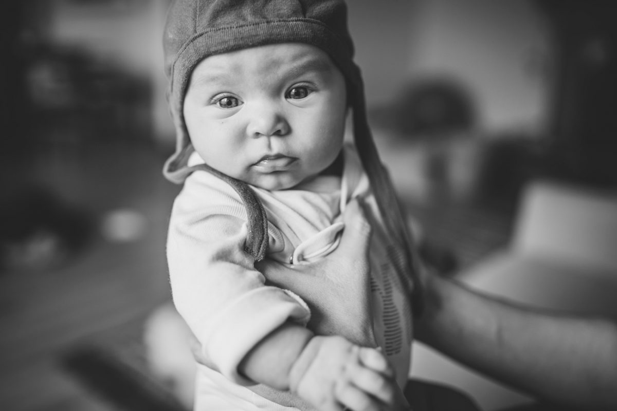 Becca Henry Photography - Newborn Photography in Portland Oregon- BW image of baby