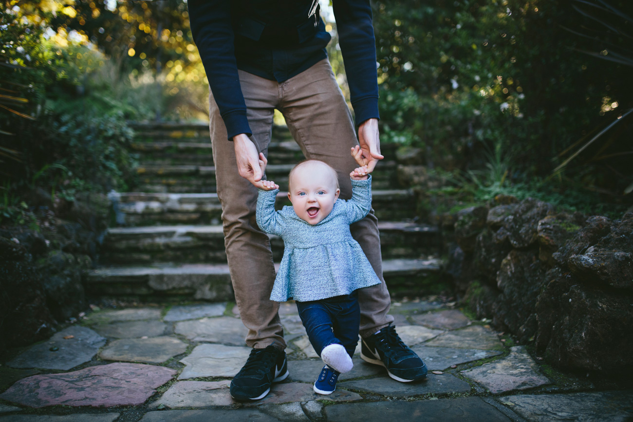 Becca Henry Photography- Baby is walking! Family portraits at Lake Temescal