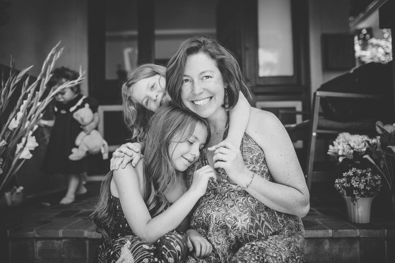 Becca Henry Family Portraits - BW photos of momma snuggle time- Berkeley California