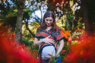 Becca Henry Photography - Oakland Maternity photography- smiling momma to be in Golden Gate Park
