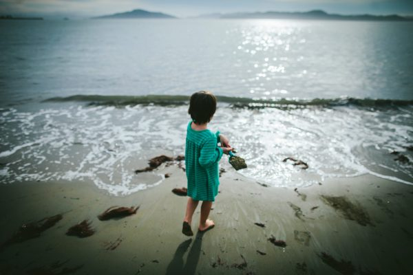 Becca Henry Photography- Little girl with playing at the beach - Richmond ,CA