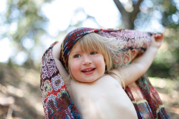 Becca Henry Photography- Little girl with scarf - Fairfax , CA
