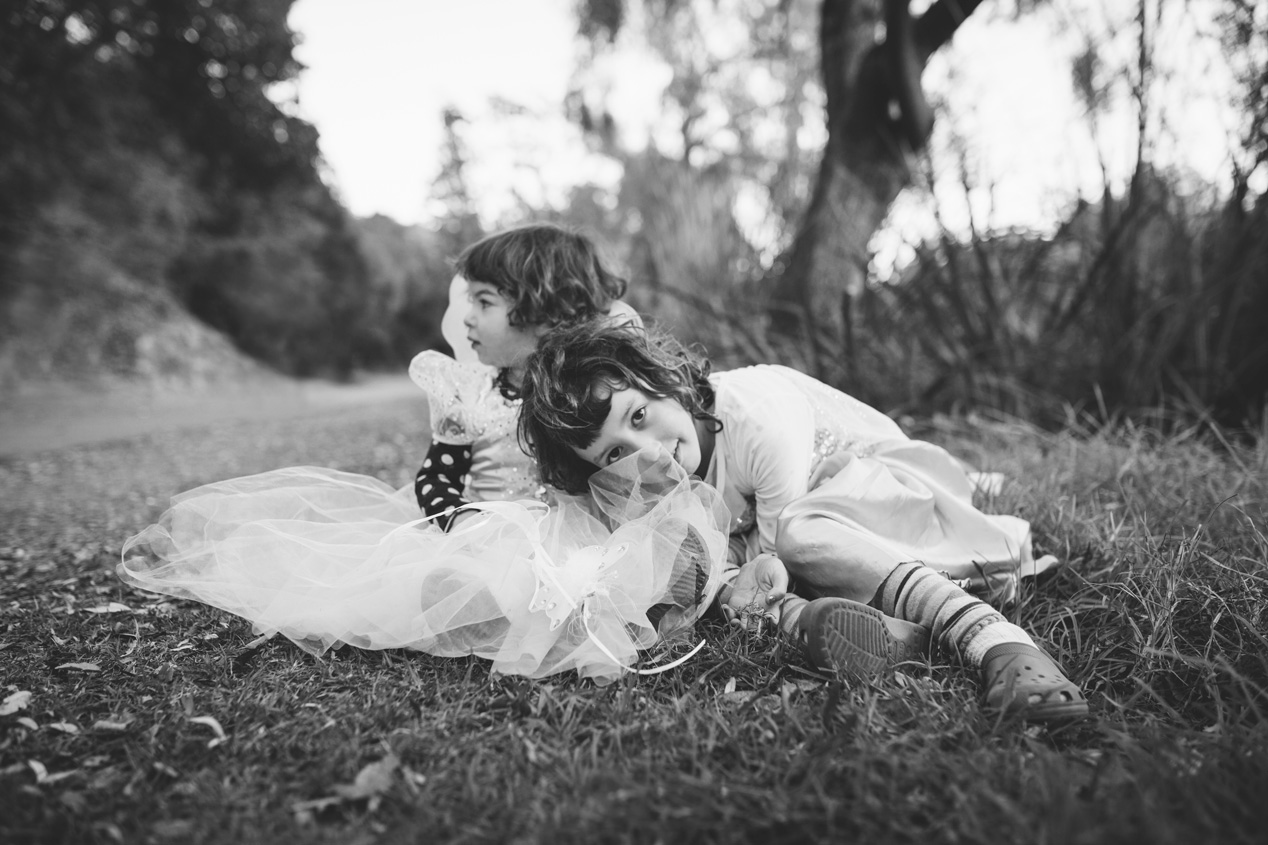 Becca Henry Photography- sisters playing dress up -Lake Temescal