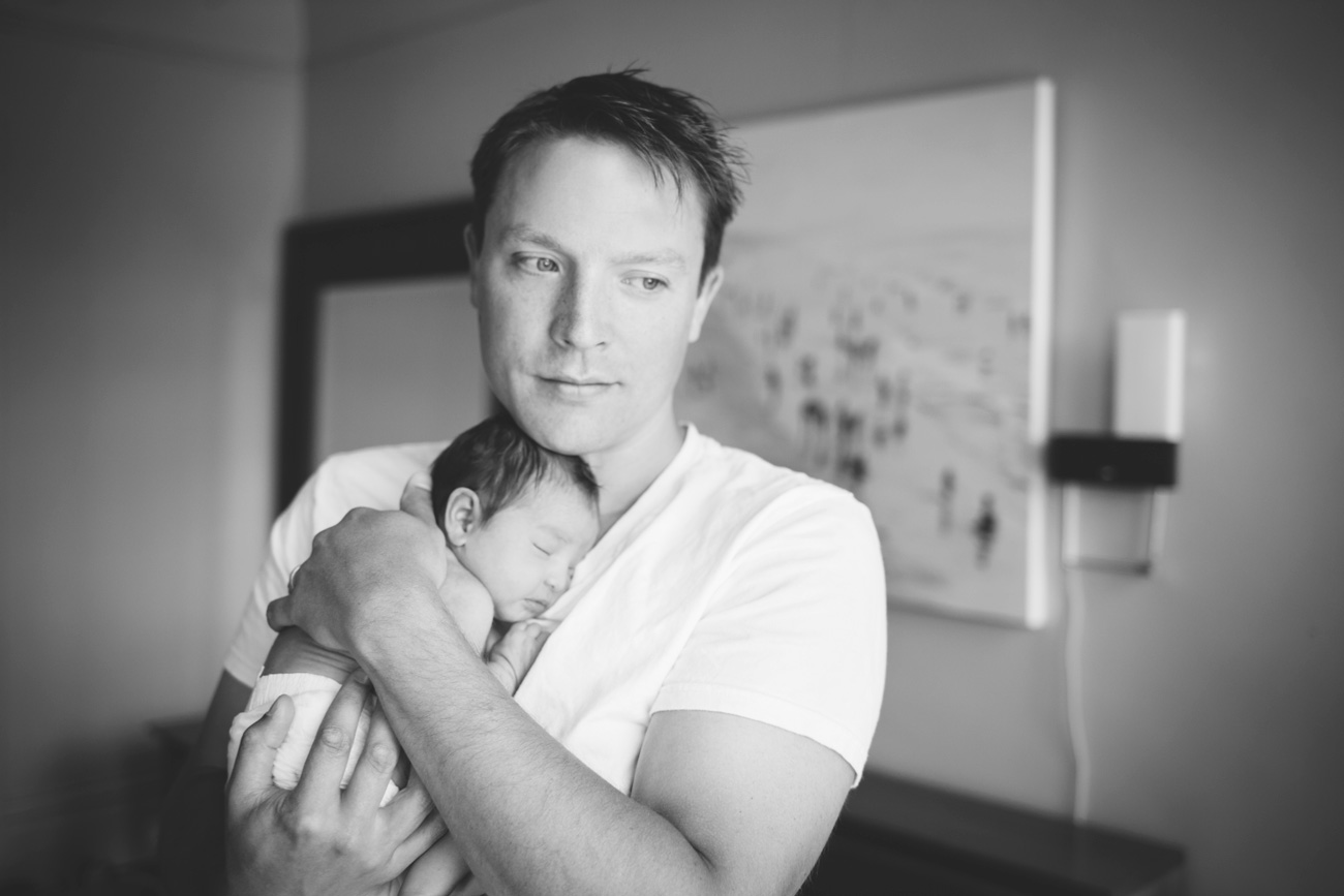 Becca Henry Photography - San Francisco Newborn Photography - father holding newborn