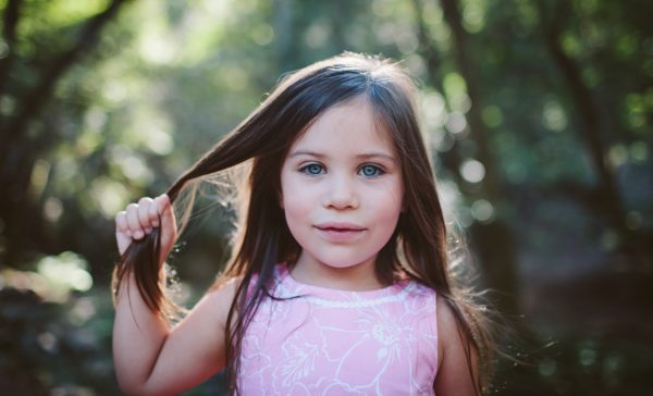 Becca Henry Photography- Little girl with wolf eyes. Fairfax California