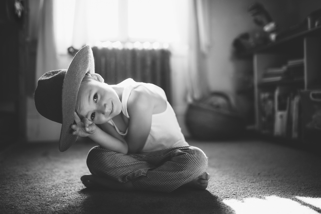 Becca Henry Photography- portrait of a boy with hat- Oakland California