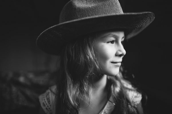 Becca Henry Photography- portrait of a girl with hat- Oakland California